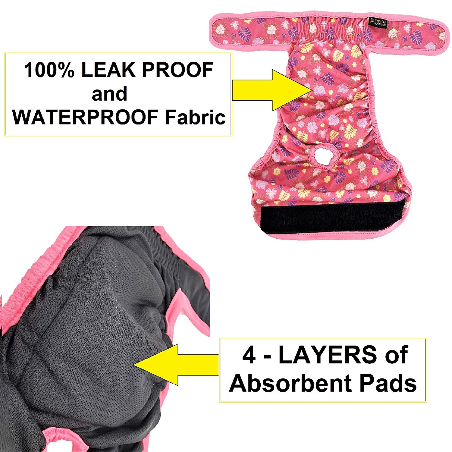 Female Dog Diapers with Absorbent Pads