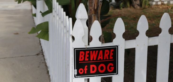 beware of dog sign law